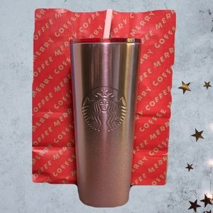 Starbucks 2019 Holiday Pink Glitter Gradient Cup